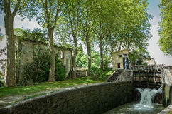 Canal du Midi Castelnaudary France Royalty Free Stock Image