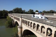 Canal du Midi en Beziers, Francia Foto de archivo libre de regalías