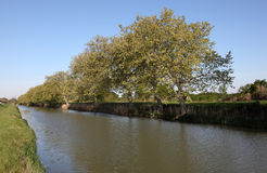 Canal du Midi in France Royalty Free Stock Photo