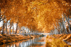 The Canal du Midi, France Stock Photos