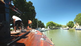canal du midi stock video footage