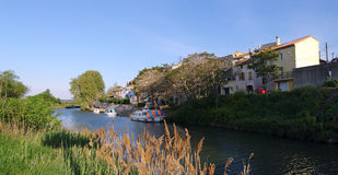 Canal du midi in south of France Royalty Free Stock Photo