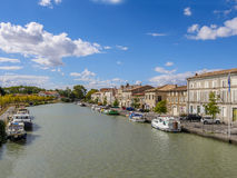 Canal Du Midi. In Port Castelnaudary in the Aude department, Languedoc Roussillon region, south France royalty free stock images