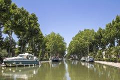 Canal du Midi, in Provence. France. Stock Photos