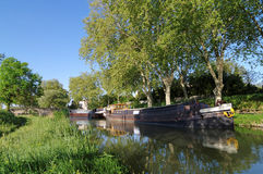 Canal du midi in the south of France Royalty Free Stock Photos