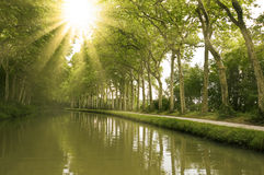 The Canal du Midi Royalty Free Stock Photography