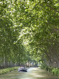 Canal du Midi. A straight part of the Canal du Midi, France Stock Photography
