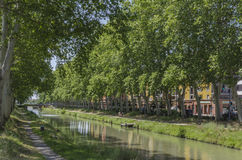 Canal du Midi, Toulouse Royalty-vrije Stock Fotografie