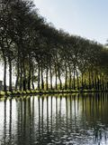 Canal du Midi view, france. Landscape view near Écluse de Tréboul, Canal du Midi Royalty Free Stock Images