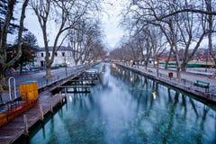 Canal du Vasse, Annecy, Γαλλία Στοκ φωτογραφία με δικαίωμα ελεύθερης χρήσης