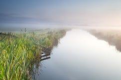 Canal in Dutch farmland Stock Image