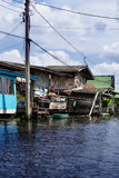 Canal Dwelling Bangkok Stock Photo