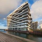 Canal e molhe em Aarhus em Dinamarca Imagens de Stock Royalty Free