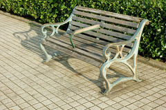 Canal edge antique bench Royalty Free Stock Images