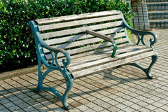 Canal edge antique bench Royalty Free Stock Photography
