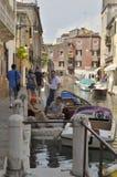 Canal em Dorsoduro Fotografia de Stock