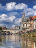 Canal em Ghent Foto de Stock Royalty Free