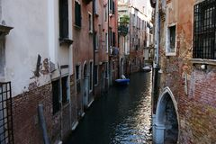 Canal em Veneza Emplastro Venetian Fotos de Stock