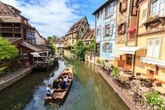 Canal en Colmar, Alsacia Fotografía de archivo libre de regalías