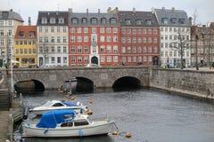 Canal en Copenhague Foto de archivo libre de regalías