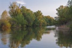 Canal en el delta de Danubio Fotografía de archivo