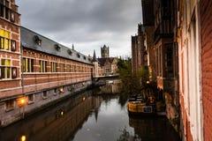 Canal en Gante Foto de archivo