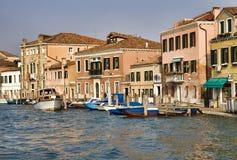 Canal en Murano, Venecia Imagen de archivo libre de regalías