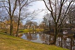Canal en Riga. Foto de archivo libre de regalías