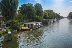 Canal en Utrecht Foto de archivo libre de regalías