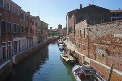 Canal en Venecia Foto de archivo libre de regalías