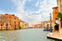 Canal en Venecia, Italia Foto de archivo libre de regalías