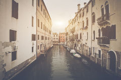 Canal en Venecia Italia Fotografía de archivo