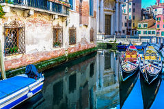 Canal en Venecia, Italia Europa Fotografía de archivo libre de regalías
