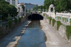 Canal en Viena Foto de archivo libre de regalías