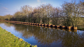 Canal in English Countryside Stock Image