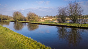 Canal in English Countryside Royalty Free Stock Images
