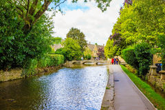 Canal in an English village Royalty Free Stock Images