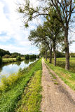 The Canal entre Champagne et Bourgogne, Pont de Marne (France) Royalty Free Stock Photo
