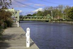 Canal Erie en Spencerport Nueva York fotografía de archivo