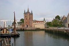 Canal et gatehouse, Zierikzee image libre de droits