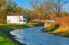 Canal et vieille serrure Photo libre de droits