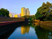 The Canal at Fort Santiago Royalty Free Stock Photography