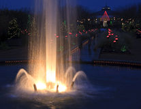 Canal Gardens at Christmas stock images