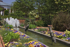 Canal Gardens at Daniel Stowe Stock Image
