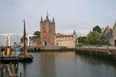 Canal and gatehouse, Zierikzee Royalty Free Stock Image