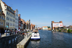 Canal in Gdansk Royalty Free Stock Images