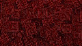 Canal geométrico vermelho Art Banner de Youtube do teste padrão fotos de stock