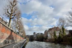 Canal in ghent Stock Image