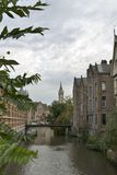 Canal in Ghent Stock Images