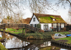 Canal in Giethoorn. Stock Images